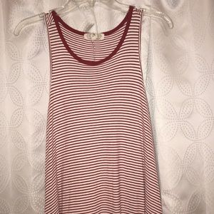 Ribbed Tank Dress striped